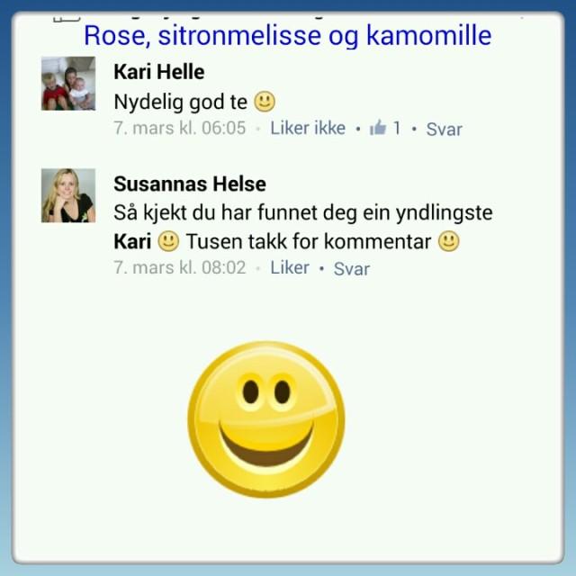 Susannas Helse kommentar